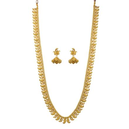 12650 Antique Long Necklace with gold plating