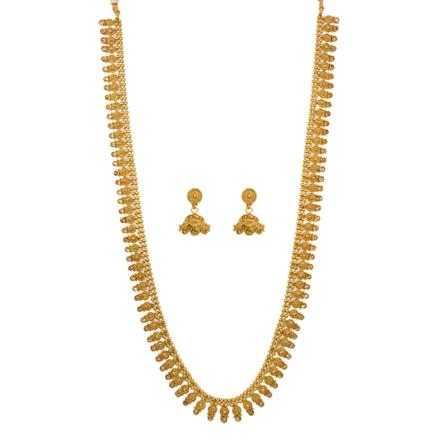 12651 Antique Long Necklace with gold plating