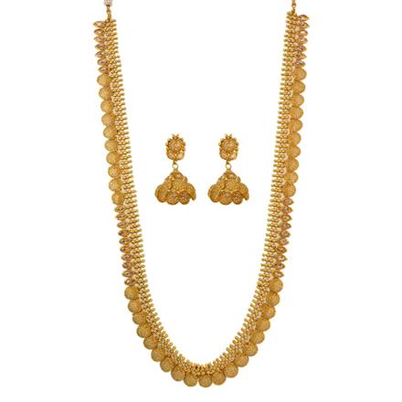 12653 Antique Long Necklace with gold plating