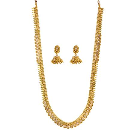 12654 Antique Long Necklace with gold plating