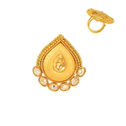 12655 Antique Classic Ring with gold plating