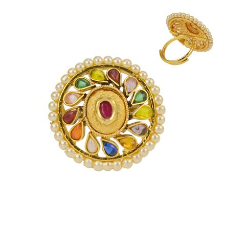12656 Antique Classic Ring with gold plating