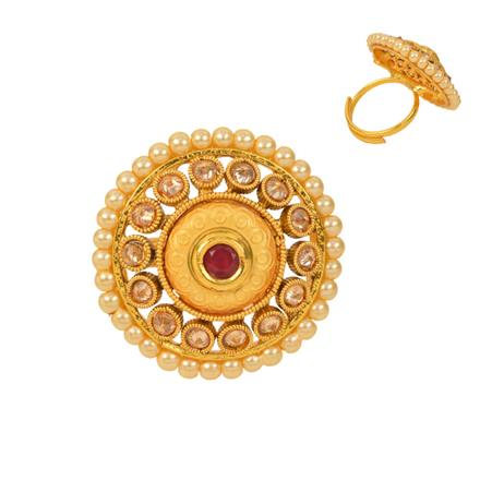 12657 Antique Classic Ring with gold plating