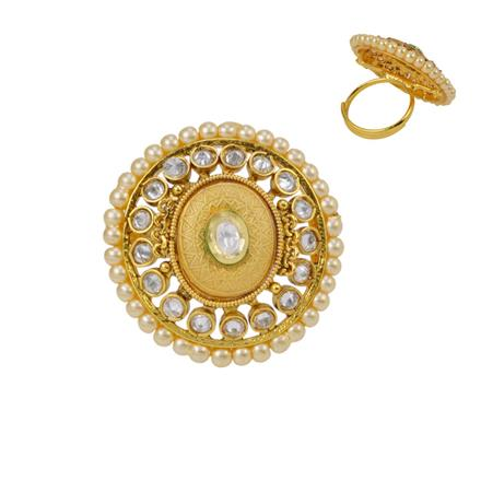 12658 Antique Classic Ring with gold plating