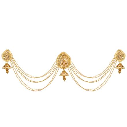 12661 Antique Classic Hair Brooch with gold plating