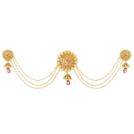 12662 Antique Classic Hair Brooch with gold plating