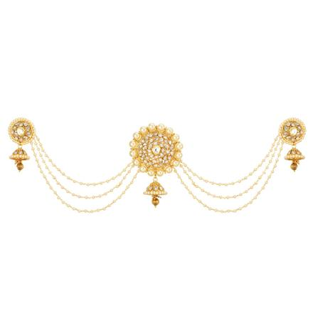 12663 Antique Classic Hair Brooch with gold plating