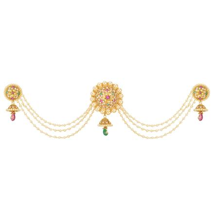 12664 Antique Classic Hair Brooch with gold plating