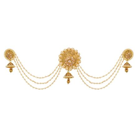 12665 Antique Classic Hair Brooch with gold plating