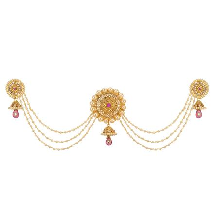 12666 Antique Classic Hair Brooch with gold plating