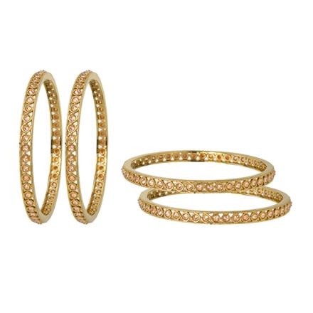 12670 Antique Classic Bangles with gold plating