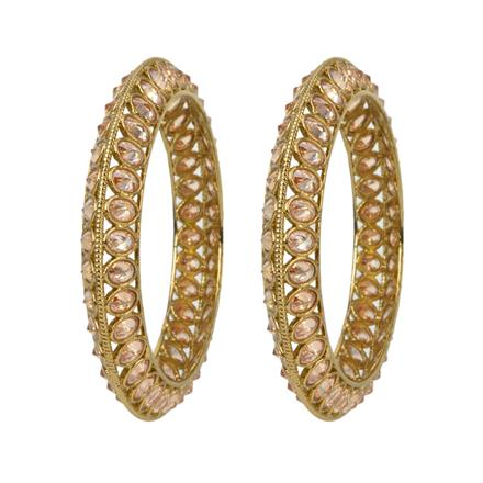 12671 Antique Classic Bangles with gold plating