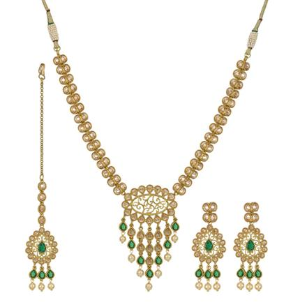 12673 Antique Classic Necklace with mehndi plating