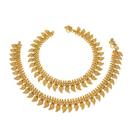 12675 Antique Plain Gold Payal