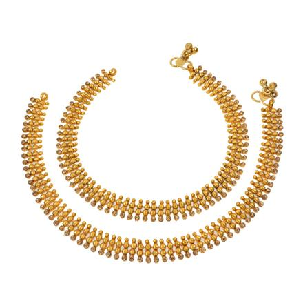 12677 Antique Classic Payal with gold plating