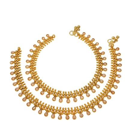 12679 Antique Classic Payal with gold plating