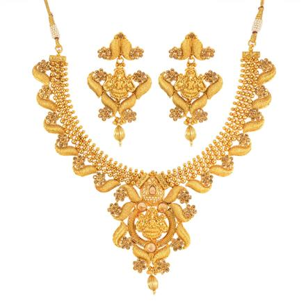 12681 Antique Temple Necklace with gold plating