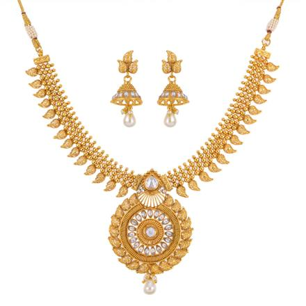 12682 Antique Classic Necklace with gold plating