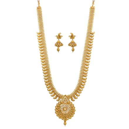 12683 Antique Long Necklace with gold plating