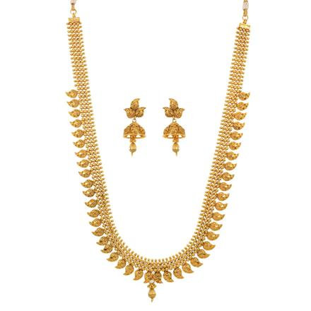 12684 Antique Long Necklace with gold plating