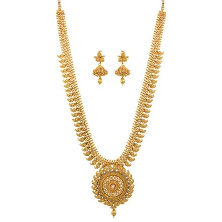 12685 Antique Long Necklace with gold plating