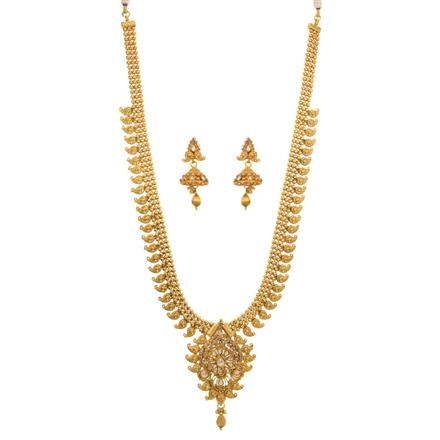 12686 Antique Long Necklace with gold plating