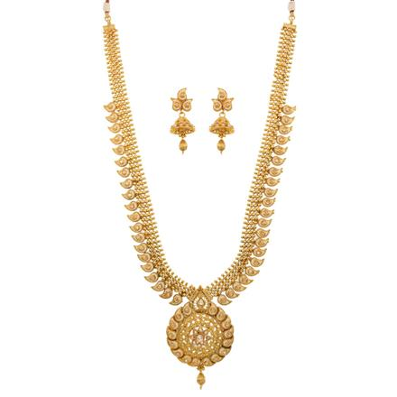 12687 Antique Long Necklace with gold plating