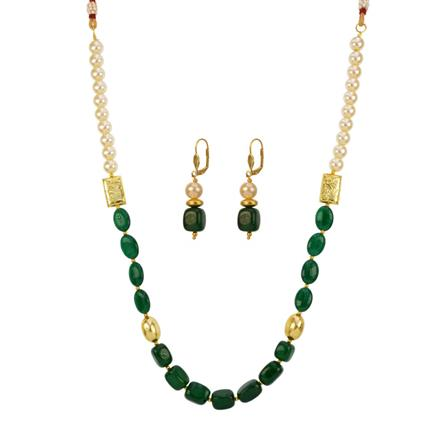 12692 Antique Mala Necklace with gold plating