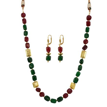 12693 Antique Mala Necklace with gold plating