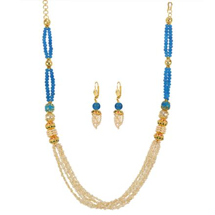 12694 Antique Mala Necklace with gold plating