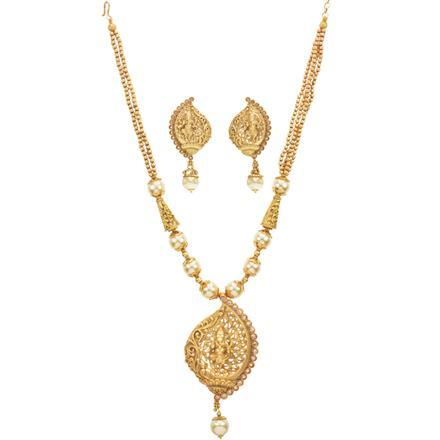 12699 Antique Mala Pendant Set with gold plating