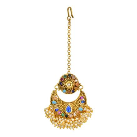 12711 Antique Chand Bore with gold plating