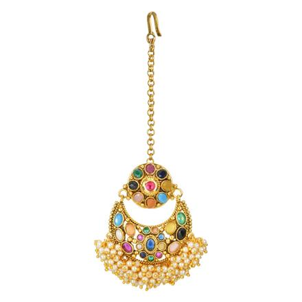 12714 Antique Chand Bore with gold plating