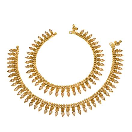 12720 Antique Classic Payal with gold plating