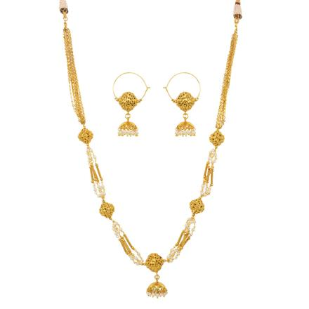 12728 Antique Mala Necklace with gold plating