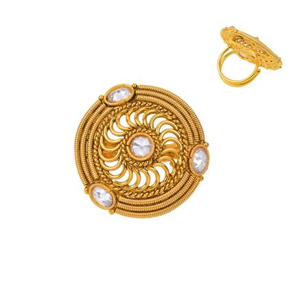 12729 Antique Classic Ring with gold plating