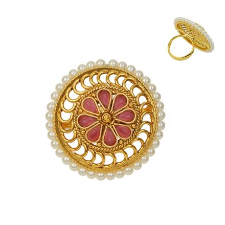 12730 Antique Classic Ring with gold plating