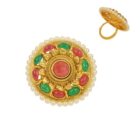 12731 Antique Classic Ring with gold plating