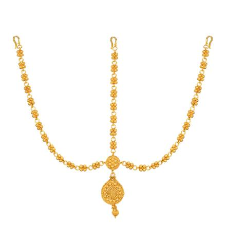 12734 Antique Plain Gold Damini