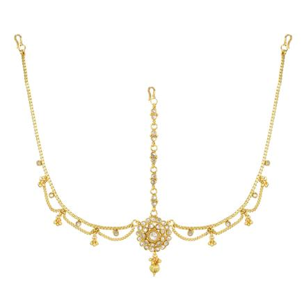 12737 Antique Classic Damini with gold plating