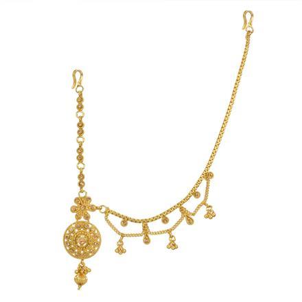 12738 Antique Half Damini with gold plating