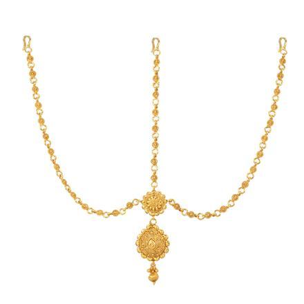 12739 Antique Plain Gold Damini