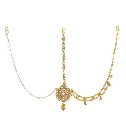 12740 Antique Half Damini with gold plating