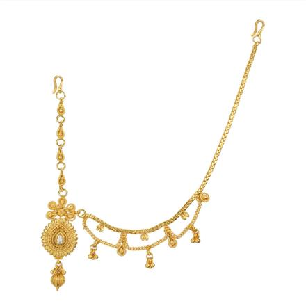 12742 Antique Half Damini with gold plating