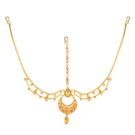 12744 Antique Chand Damini with gold plating