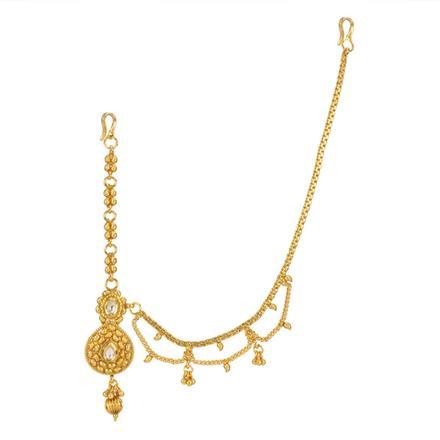 12745 Antique Half Damini with gold plating