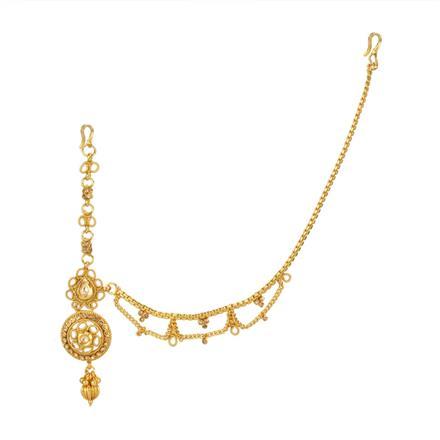 12746 Antique Half Damini with gold plating
