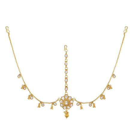 12747 Antique Classic Damini with gold plating