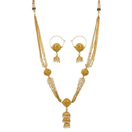 12748 Antique Mala Necklace with gold plating