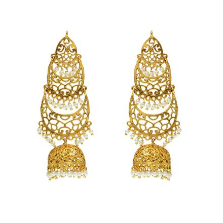 12749 Antique Long Earring with gold plating